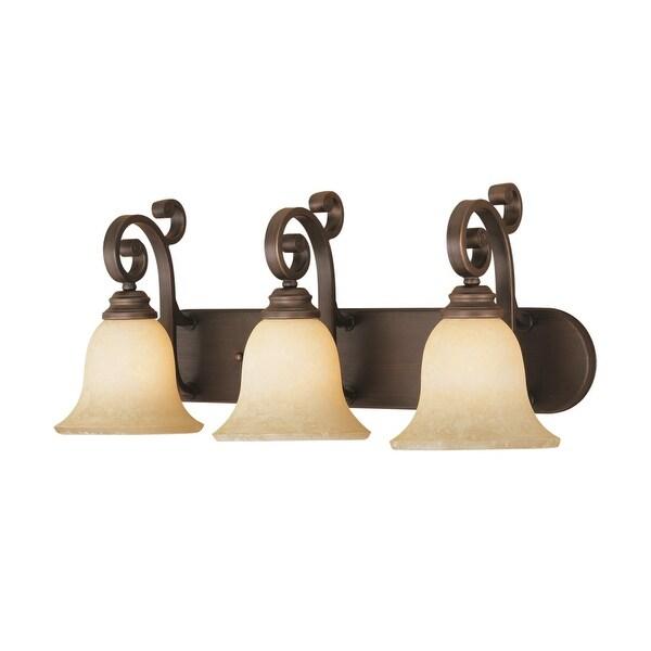 Millennium Lighting 1243 Oxford 3-Light Bathroom Vanity Light - Rubbed bronze