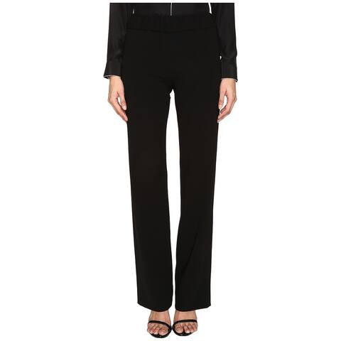 Boutique Moschino Womens Pants Black Size 8 IT 42 Dress Pull On Stretch