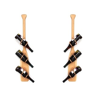 Handmade Hickory Paddle  Wine Rack Set (USA)