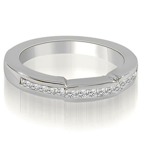 0.50 cttw. 14K White Gold Channel Set Princess Diamond Wedding Band