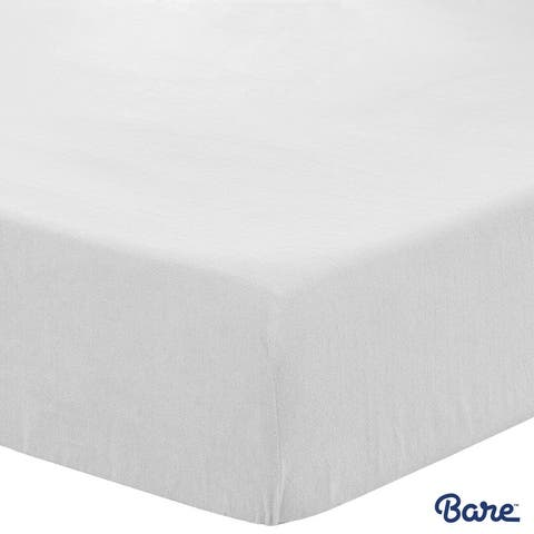 Bare Home Polar Fleece Fitted Bottom Sheet, Deep Pocket & Hypoallergenic