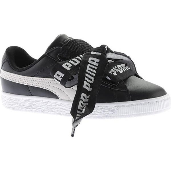 san francisco c0790 63f77 PUMA Women  x27 s Basket Heart DE Sneaker PUMA Black PUMA White