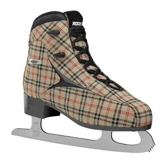 Roces Women's Brits Figure Ice Skate Superior Italian Sand Plaid 450557 00010