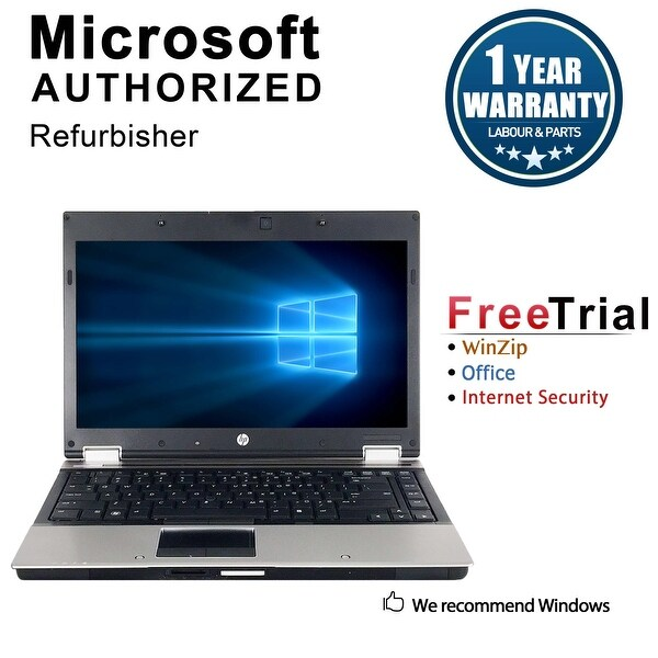 "Refurbished HP EliteBook 8440P 14"" Laptop Intel Core i5-520M 2.4G 4G DDR3 1TB DVD Win 10 Pro 1 Year Warranty - Silver"