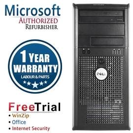Refurbished Dell OptiPlex 760 Tower Intel Core 2 Duo E7600 3.0G 4G DDR2 250G DVD Win 10 Pro 1 Year Warranty