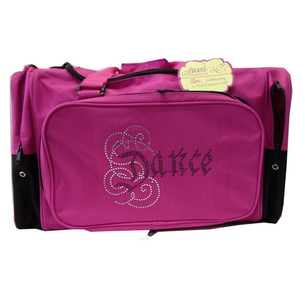 7833cab4b0d2 Shop Girls Hot Pink Dance Rhinestone Square Duffel Bag Tote - One size -  Free Shipping On Orders Over  45 - Overstock - 18441767