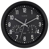 La Crosse Technology Ltd 404-2631 12 in. Black Plastic Wall Clock