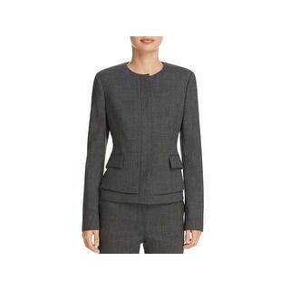 BOSS Hugo Boss Womens Jasyma Peplum Jacket Wool Business