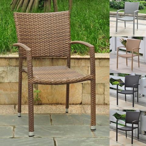 International Caravan Barcelona Aluminum Dining Chairs (Set of 4)