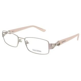 Valentino V2107 045 Silver/Ivory Rectangular Valentino Eyewear