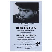 ''Bob Dylan, Carnegie Hall, 1961'' by Anon Vintage Advertising Art Print (23 x 15 in.)