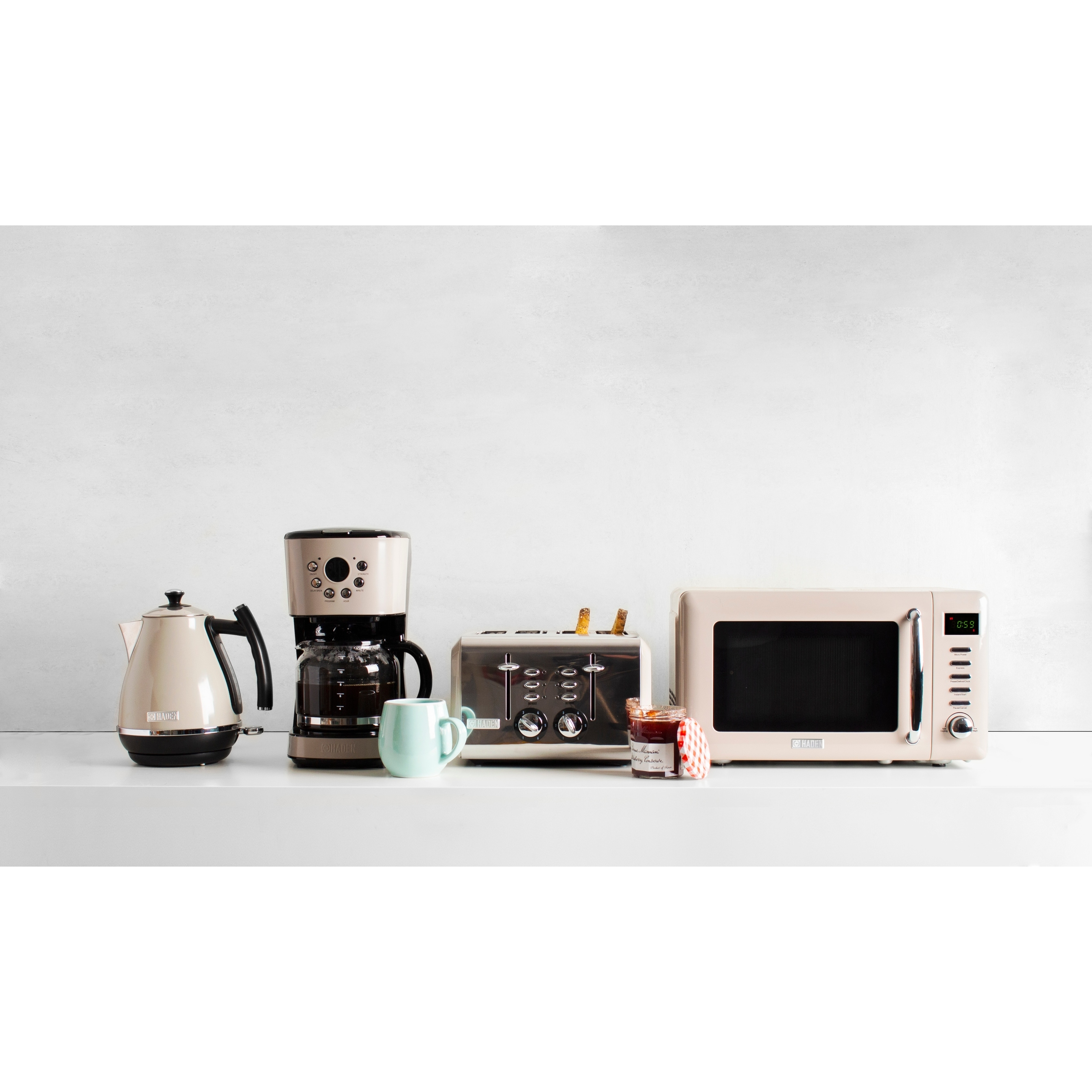 Haden Modern 12 Cup Programmable Coffee Maker With Strength Control In Putty Beige Overstock 32051594