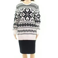 Lauren By Ralph Lauren White Womens Size Large L Knitted Sweater