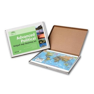 Universal Map World Advanced Political Deskpad Map 30 Boxed Set