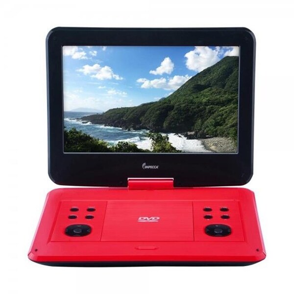 Impecca DVP-1330R 13 in. Portable DVD Player, Red