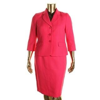 Le Suit Womens Petites 2PC Knee-Length Skirt Suit