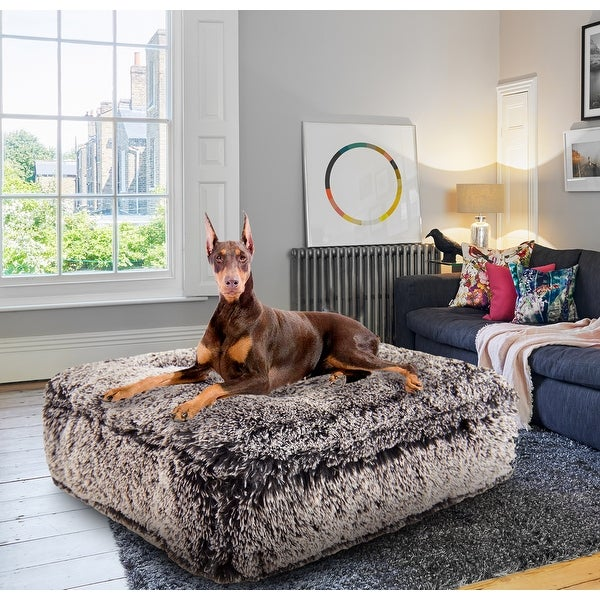 Bessie and Barnie Frosted Willow Ultra Plush Faux Fur Luxury Shag Durable Sicilian Rectangle Pet/Dog Bed. Opens flyout.