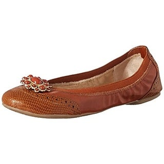 Lindsay Phillips Womens Tracy Ballet Flats Faux Leather Snake Print