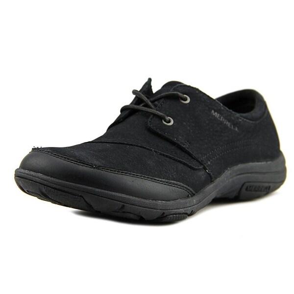 Merrell Dassie Tie Round Toe Leather Sneakers