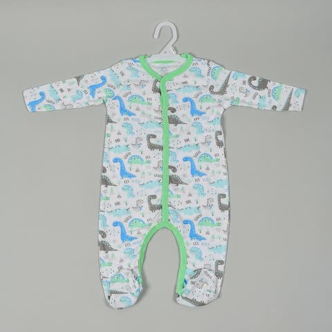 Oussum Baby Toddler Cotton One Pices Romper Jumpsuit Unisex Sleep and Play Footie Pajamas BabySuits Outfits Footed Dress