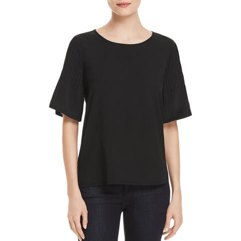 French Connection Womens Blouse Satin Sheer