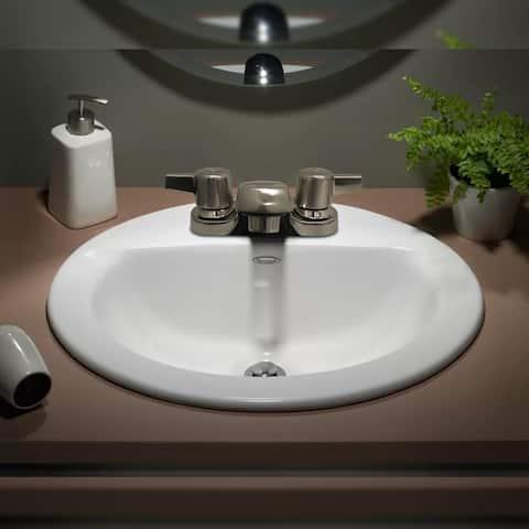 Two Handle Bathroom Faucet in Brushed Nickel - Cream