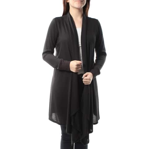 INC Womens Black Long Sleeve Open Cardigan Top Size: L