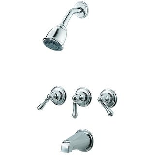 Pfister G01-81B Tub and Shower Trim Package with Multi Function Shower Head and Metal Knob Handles