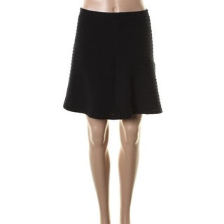 Theory Womens Braswell A-Line Skirt Textured Box Pleat - 12