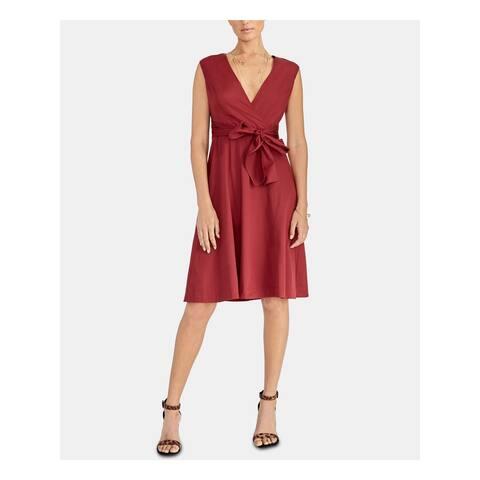 RACHEL ROY Maroon Sleeveless Knee Length Sheath Dress Size 4