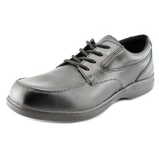 Hush Puppies Ty Youth Round Toe Leather Black Oxford