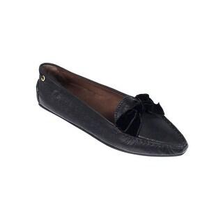 Car Shoe By Prada Black Velvet Bow Driving Shoes