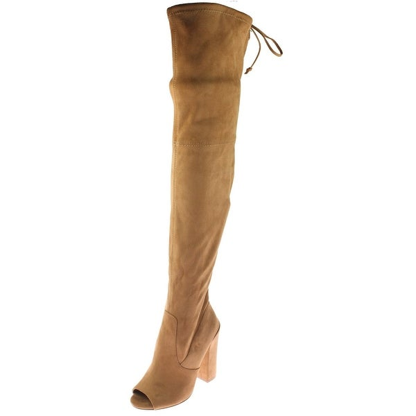 4a77236fcb5 Shop Steve Madden Womens Elliana Over-The-Knee Boots Thigh High Peep ...