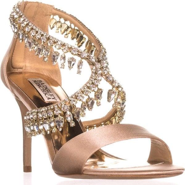 Badgley Mischka Grammy Evening Sandals, Latte - 5.5 us