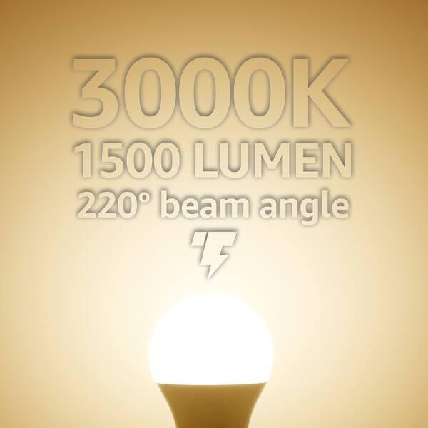 Shop 4 Pack 15w Led A19 Light Bulb Garage Door Opener Light Bulb 3000k Warm White 5000k Daylight Overstock 13379686 Warm White