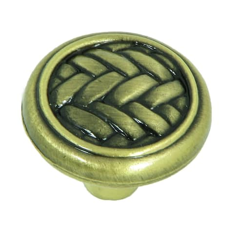 Stone Mill Hardware - Antique Brass Harris Cabinet Knobs (Pack of 25)