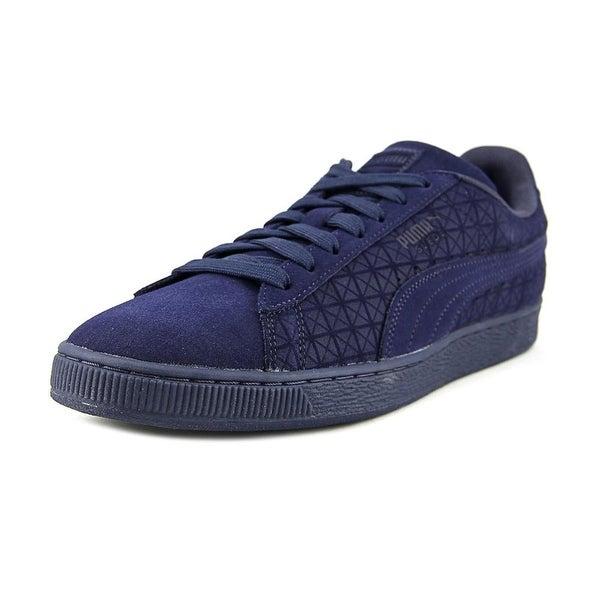 Puma Suedeon Suede Men Round Toe Suede Blue Sneakers