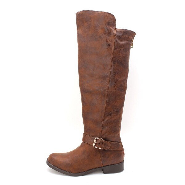 Just Fab Womens Erica Closed Toe Knee High Fashion Boots
