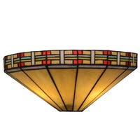 "Meyda Tiffany 144963 Arizona 2 Light 14.5"" Wide Hand-Crafted Wall Sconce with Stained Glass - multi colored"
