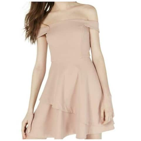 SPEECHLESS Pink Cap Sleeve Mini Fit + Flare Dress Size 9