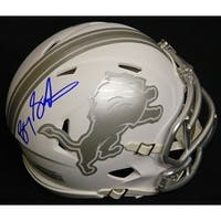 Barry Sanders Detroit Lions White Ice Riddell Mini Helmet