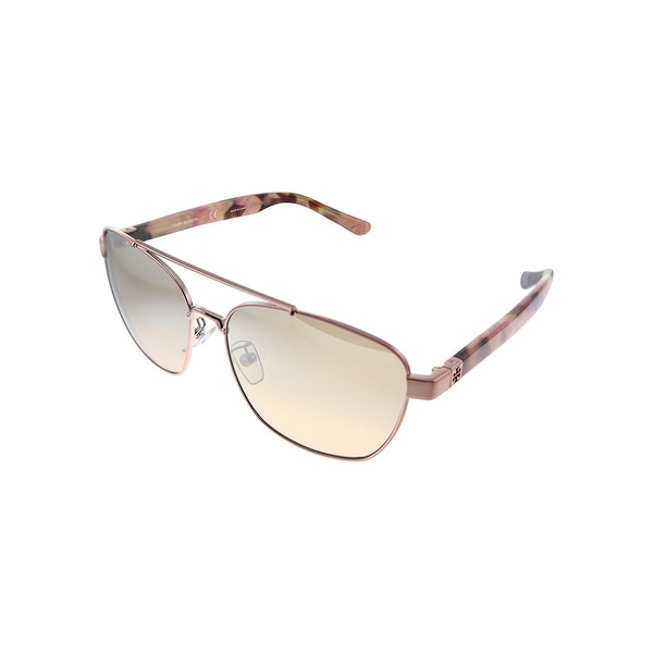 Tory Burch TY 6069 32738Z 57mm Womens Pink Frame Brown Mirror Lens Sunglasses. Opens flyout.