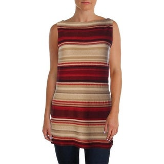 Lauren Ralph Lauren Womens Linen Sleeveless Pullover Top