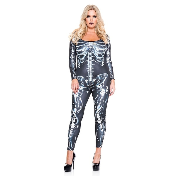 937cb4b8ab9 Shop Plus Size Mechanical Skeleton Catsuit - As Shown - Free Shipping On  Orders Over  45 - Overstock - 27742328
