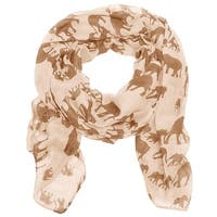 Women's Lightweight Elephan Printed Soft Large Wrap Scarves