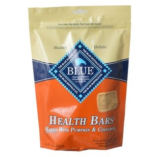 Blue Buffalo Health Bars Dog Biscuits Baked with Pumpkin and Cinnamon 16 oz