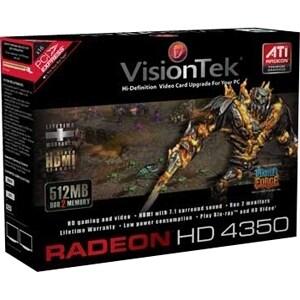 """VisionTek 900308 Visiontek 900308 Radeon 4350 Graphic Card - 512 MB DDR2 SDRAM - PCI Express x1 - 800 MHz Memory Clock - 128"