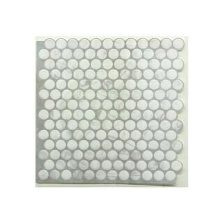 Roommates TIL3463FLT Marble Penny Stick Tiles - Pack of 4
