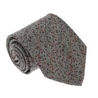 Missoni U0901 Gray/Red Pin Dot 100% Silk Tie - Grey - 60-3