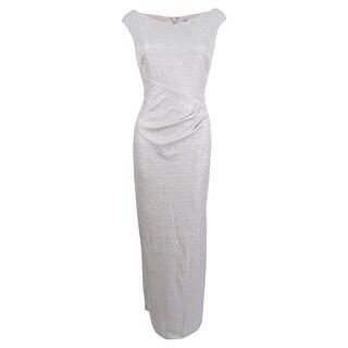 Lauren Ralph Lauren Women's Sleeveless Woven Column Gown - White/Silver